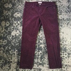 Banana Republic Pants - Skinny fit Corduroy Pants in Purple Fig